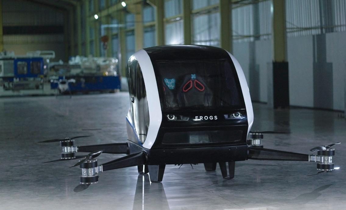 Frogs, Taxi Drone Buatan Yogya Berhasil Terbang di Tes Pertama