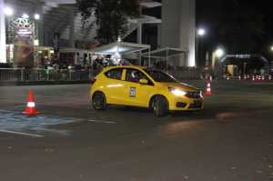 Honda Brio Saturday Night Challenge, Tantang Anak Muda Adu Slalom