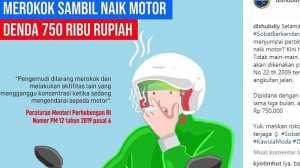 Merokok Saat Nyetir: Ngerokoknya Sebatang, Dendanya Setara 2 Slop Rokok!