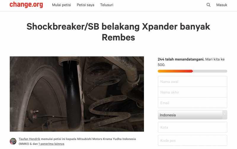 Muncul Petisi Keluhan Suspensi Bocor Mitsubishi Xpander