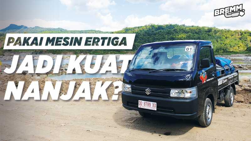 VIDEO Test Drive Suzuki New Carry, Libas Sungai dan Gunung Makasar