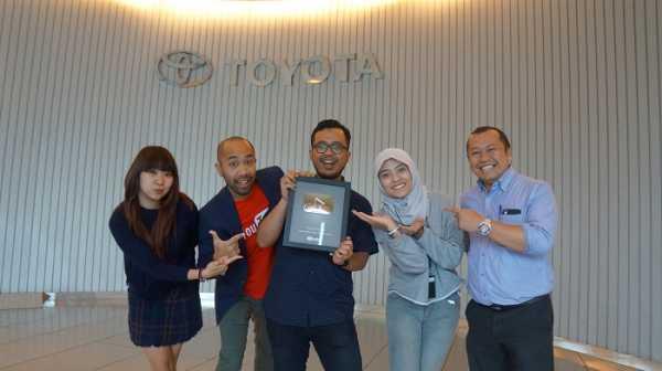 Youtube Channel Toyota Indonesia Raih Silver Play Button dari Google