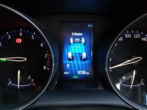 MID Toyota C-HR bisa menampilkan indikator G-Force (Bagja - Uzone.id)
