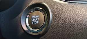 Tombol untuk Start / Stop Engine