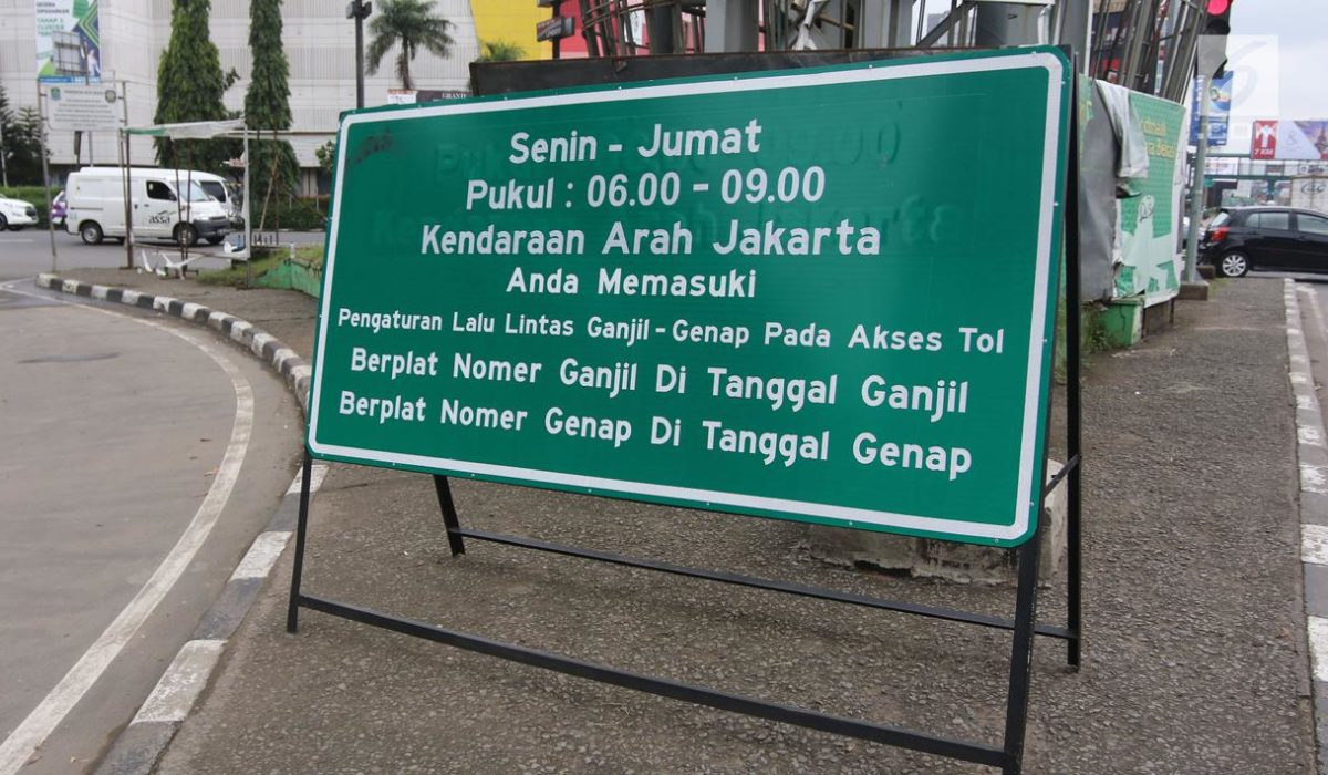 Jakarta Masih Bebas Ganjil Genap Senin Ini