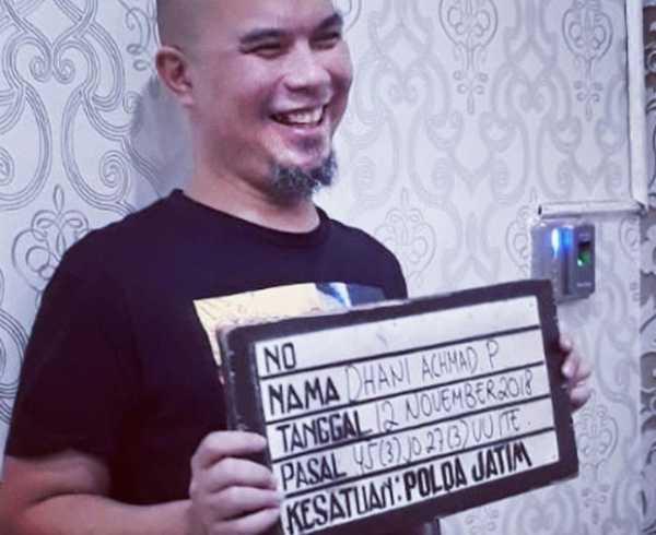 Ahmad Dhani Dipindah ke Rutan Medaeng Sidoarjo