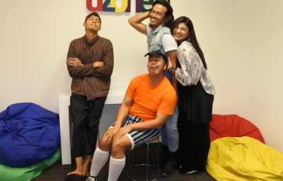 Begini Kelakuan Doyok, Otoy, Ali Oncom saat Hangout di Uzone