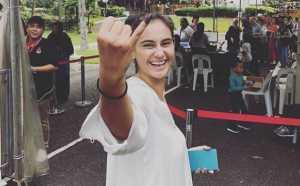 Pemilu di Singapura, Marissa Nasution Coblos Jokowi