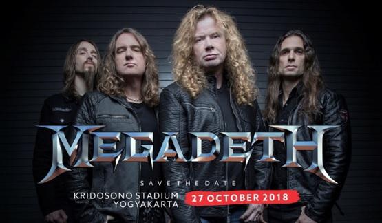 Jangan Lupa, Megadeth Tampil di Jogjarockarta pada 27 Oktober