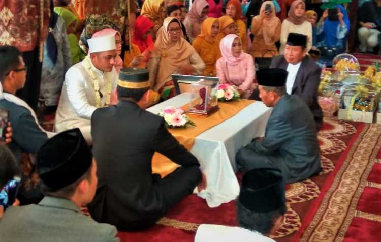 Mantan Jenderal Polri Jadi Saksi Akad Nikah Muzdalifah dan Fadel Islami