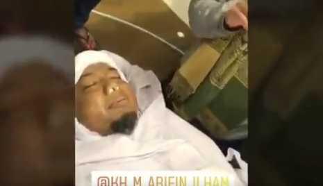 Beredar Wajah Almarhum Ustaz Arifin Ilham Terlihat Senyum