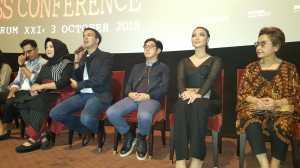 Hantu Asih gentayangan di gala premiere film Asih di Epicentrum XXI, Jakarta Selatan, Rabu,3 Oktober 2018.