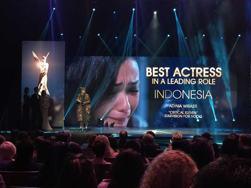 Adinia Wirasti Raih Best Actress di Asian Academic Creative Awards 2018