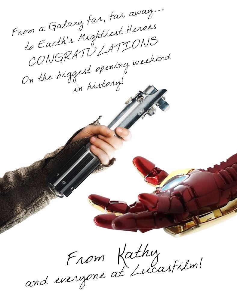 Foto-foto Ucapan Selamat yang Unik untuk Film Laris Manis di <i>Box Office</i>