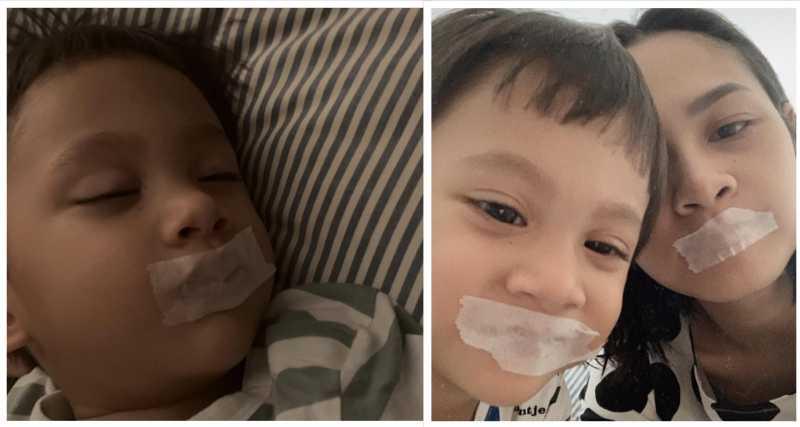 Amankah Plester Mulut Anak Saat Tidur?