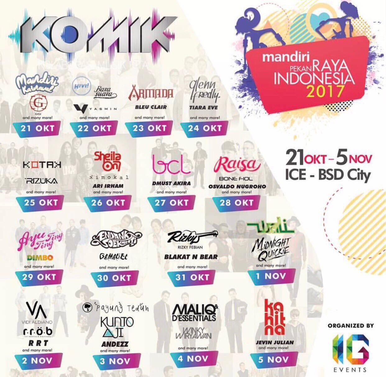 Kolaborasi Band Keren di Pekan Raya Indonesia 2017