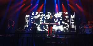 Michael  Learn To Rock (MLTR) tampil di Tennis Indoor Senayan Jakarta, Selasa (11/12/2018)