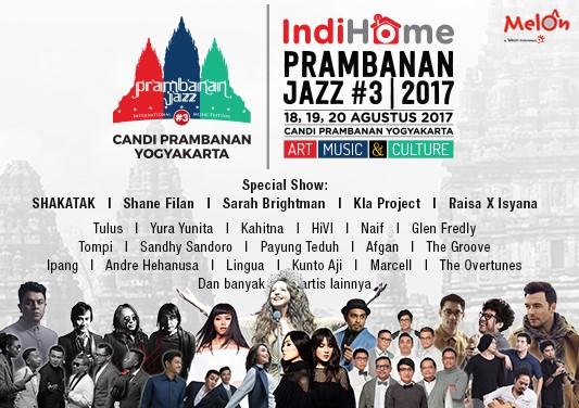 Musisi Ternama Siap Meriahkan Prambanan Jazz 2017