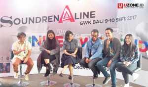 Dari kiri Mondo Gascaro, Neonomora, Andien Adib Hidayat, Iga Masardi dan Danilla Riyadi Press Confrence Soundrenaline 2017 / © Ari Setiyawan