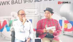 Novrial Rustam Managing Director Kilau Indonesia bersama Gilang Gombloh sebagai pembawa acara Press Conference Soundrenaline 2017 / © Ari Setiyawan