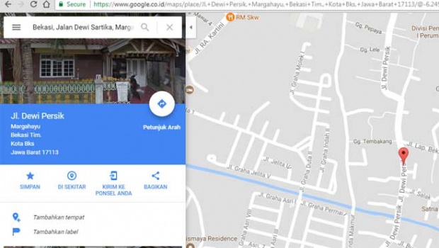 Jalan Dewi Sartika jadi Dewi Persik, Kota Bekasi Memprotes Google