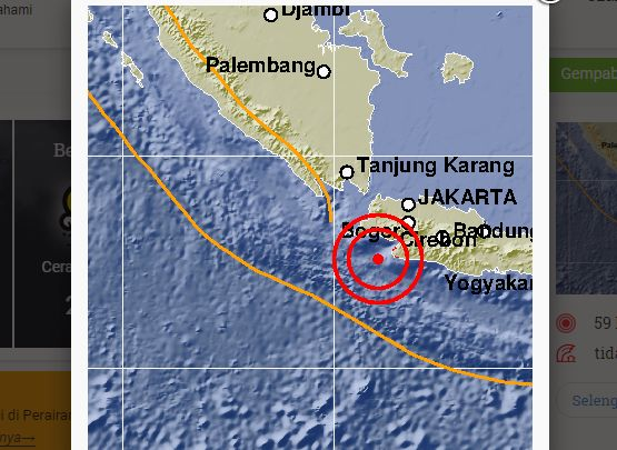 Gempa Banten Berpotensi Tsunami, Warga: Bekasi Kayak Lagi Goyang Dumang