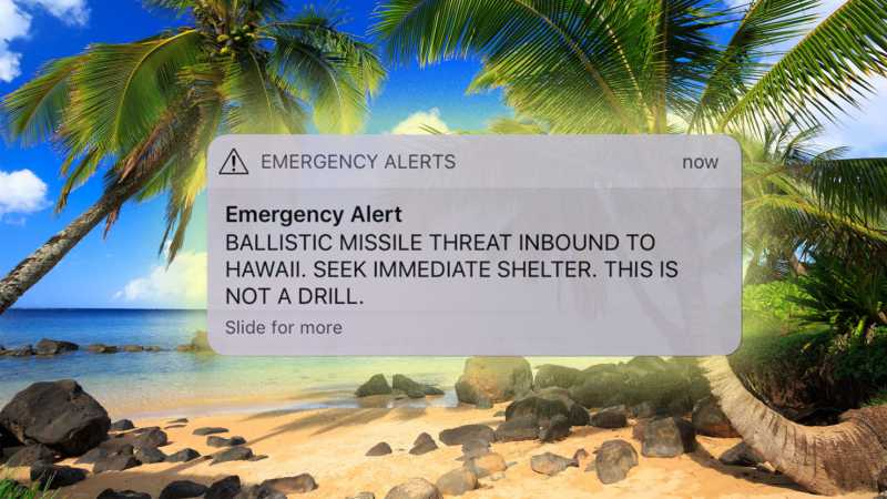 SMS Keliru Ada Rudal Jatuh, Warga Hawaii Panik