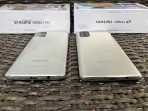 Samsung Galaxy A71 dan A51 sama-sama hadir dengan RAM 8GB dan ROM 128GB. (Foto: Birgitta Ajeng/Uzone.id)