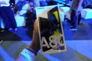 FOTO: Tampang Galaxy A80, Ponsel Kamera 48MP yang Bisa Berputar