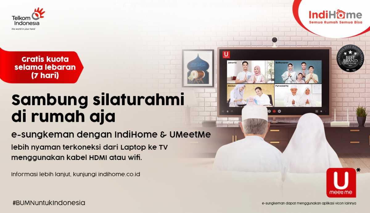 IndiHome Hadirkan Program e-Sungkeman, Layanan Video Conference Bebas Kuota