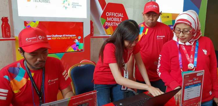 Jaringan Telkomsel 100 Siap Nonton Asian Games di Venue pun Nyaman