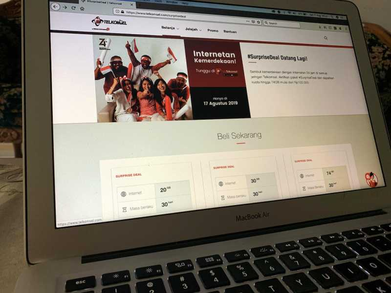 Surprise Deal Telkomsel 17 Agustus, Kuota Hingga 74 GB Mulai Rp 100 Ribu