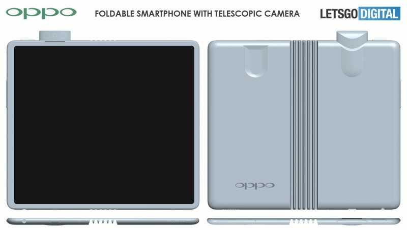 Intip Penampakan Desain Ponsel Lipat Oppo, Ada Kamera <i>Pop-up</i>