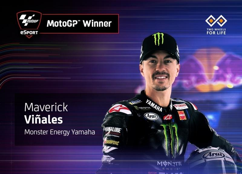 Hasil motoGP Virtual Seri 3 Spanyol: Vinales Juara, Yamaha Dikepung Honda