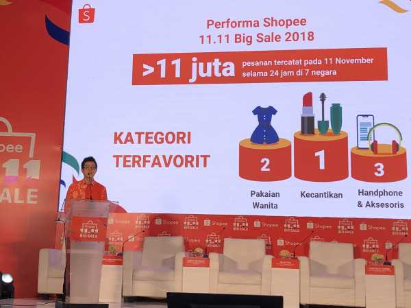 Hari Diskon Besar 11.11, Shopee Targetkan Transaksi 11 Juta per Hari