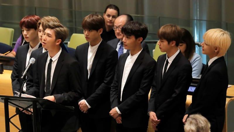 BTS Beri Pidato Emosional Tentang Mencintai Diri Sendiridi Sidang PBB, Ini Videonya