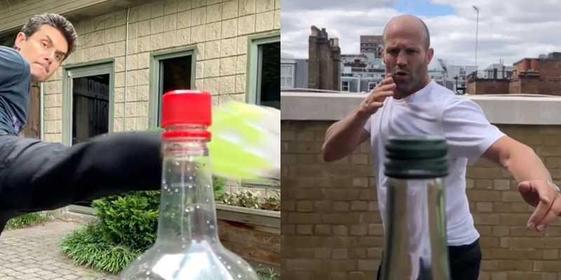 Viral #BottleCapChallenge, Jason Statham Sampai Ryan Reynolds Ikutan