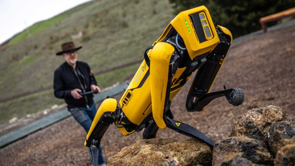 Singapura Pakai Robot Anjing Ingatkan Warga Jaga Jarak