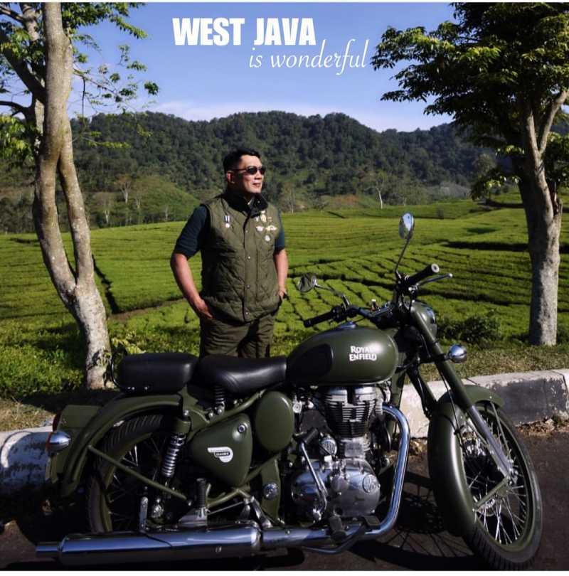 Mengenal Motor Ridwan Kamil Kala jadi Bikers, Royal Enfield Classic Battle Green