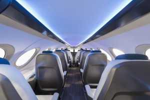 Ruang kabin Alice yang sanggup menampung 9 orang penumpang dan 2 awak (Aviation)