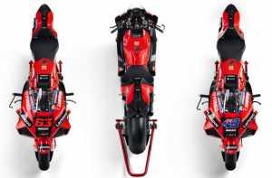 Tampak atas tampilan Ducati Desmosedici 2021 (motoGP .com)