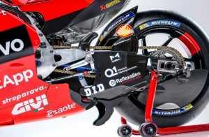 Bagian belakang tampilan Ducati Desmosedici 2021 (motoGP .com)
