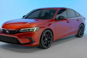 Honda Civic model sedan generasi ke-11 bentuk prototipe (Foto: Honda).
