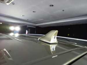 Kia Sonet sudah pakai antena shark fin.