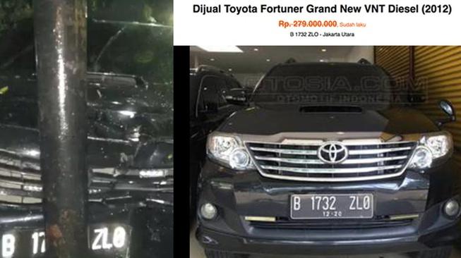 Fortuner yang Ditumpangi Novanto Diiklankan Pada Mei 2017