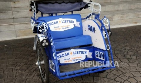Becak Listrik Segera Beroperasi di Yogyakarta