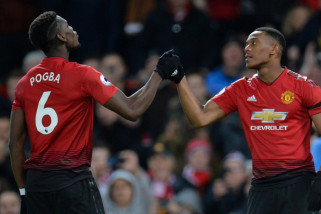 Martial lanjutkan tren kesuburan, Manchester United atasi Everton 2-1