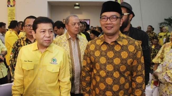 Komentar Ridwan Kamil Soal Fotonya Bareng Setya Novanto