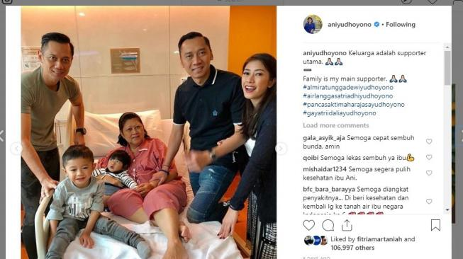 Ani Yudhoyono Kembali Masuk ICU, Dua Putranya Langsung ke Singapura