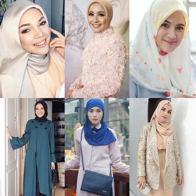 6 Gaya Hijab Artis Indonesia Inspirasi Lebaran